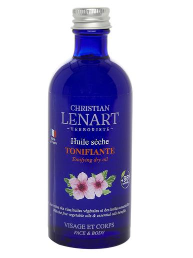 Huile sèche tonifiante visage et corps - Christian Lenart - Bleu
