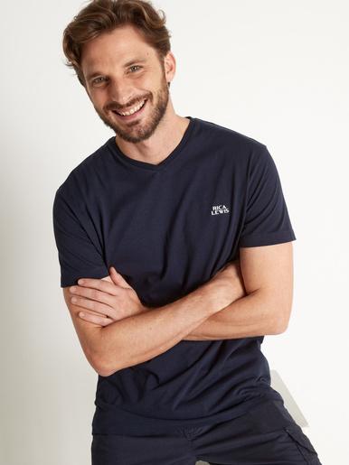 Tee-shirt manches courtes coton bio - Rica Lewis - Marine