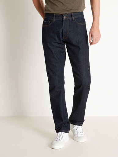 Jean 5 poches coton bio - Rica Lewis - Bleu stone