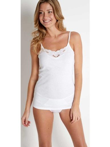 Chemises fines bretelles coton bio 2 + 1 - Lingerelle - Blanc
