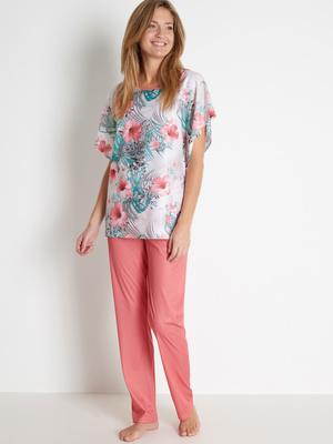 Pyjama d'hôtesse en maille satinée