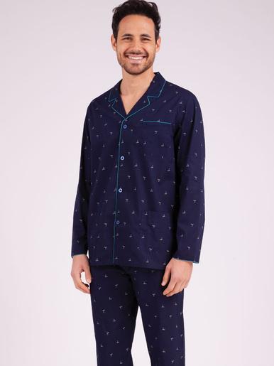 Pyjama long ouvert Night Fever
