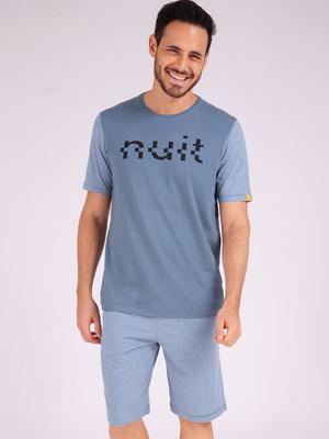 Pyjama court col rond Enigma