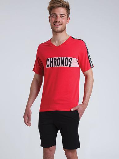 Pyjama court col V Chronos