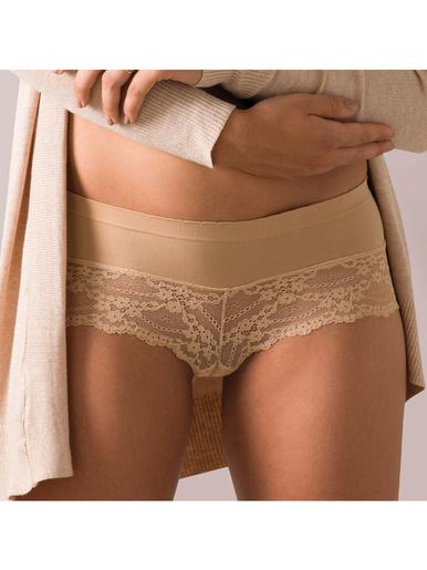 Boxer femme Invisible Cocoon - Athéna - Marron/beige
