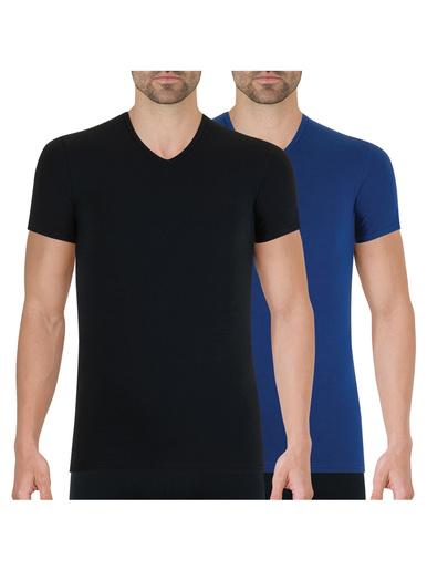 Lot de 2 tee-shirt col V Full Stretch