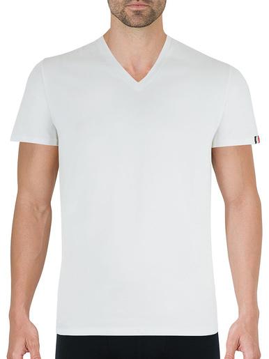 Tee-shirt col V Fait en France - Eminence - Blanc