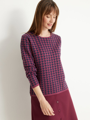 Pull maille jacquard 15% laine