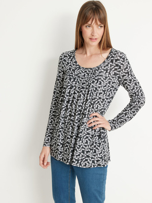 Tee-shirt tunique manches longues