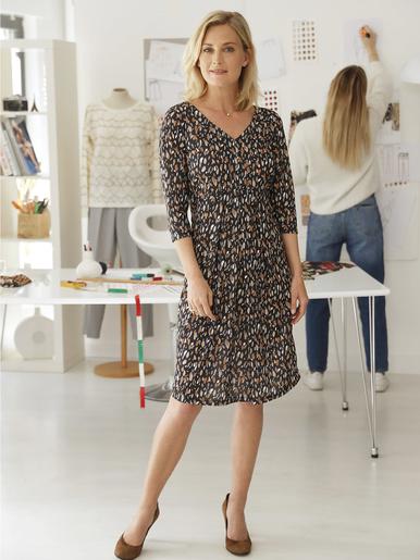 Robe spéciale ventre rond - Charmance - Imprimé marron
