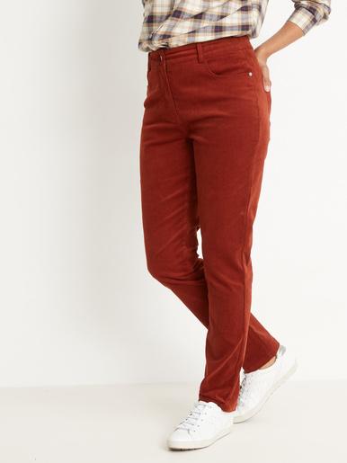 Pantalon en velours coupe droite