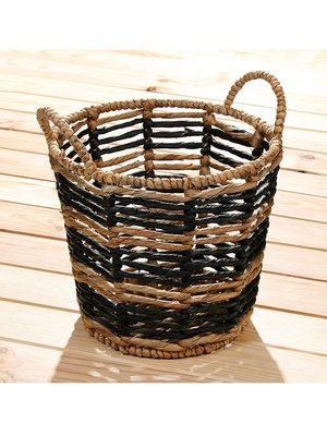 Panier jacinthe d'eau naturel et noir