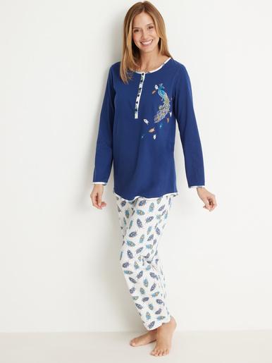Pyjama en maille coton bio - Balsamik - Imprimé marine