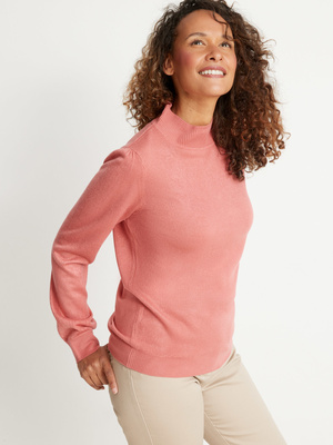 Pull col montant toucher cachemire