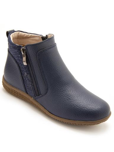 Boots double zip aérosemelle® amovible - Pédiconfort - Bleu