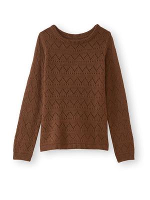 Pull fantaisie avec laine et alpaga