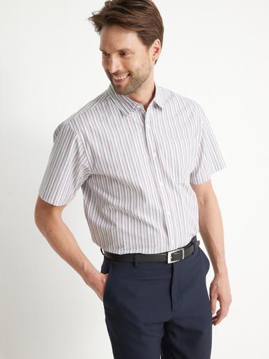 Chemise à rayures manches courtes - Honcelac - Rayé multicolore