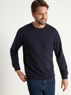 Sweat-shirt encolure ronde molleton
