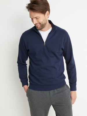 Sweat-shirt col montant zippé molleton