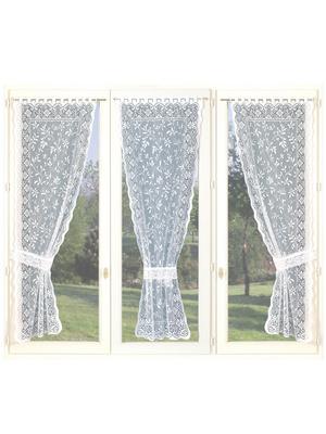 Lot de 3 rideaux 90cm et 3 embrasses