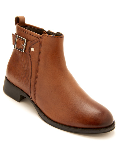 Boots zippées aérosemelle® amovible - Pédiconfort - Marron