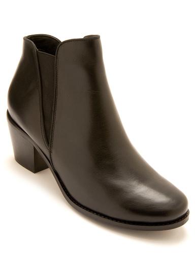 Boots cuir zippées et élastiquées - Pédiconfort - Noir