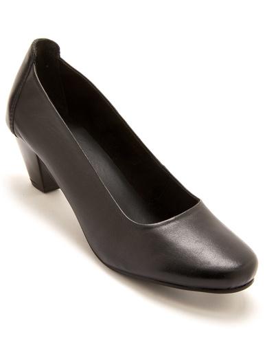 Décolletés cuir largeur confort - Pédiconfort - Noir