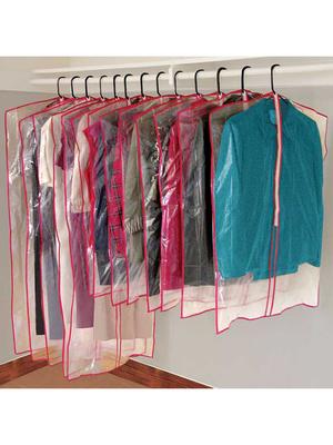 Lot de 13 housses transparentes zippées