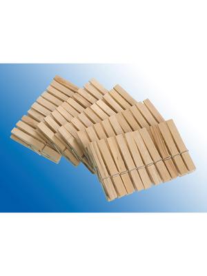 Lot de 50 pinces à linge en bois