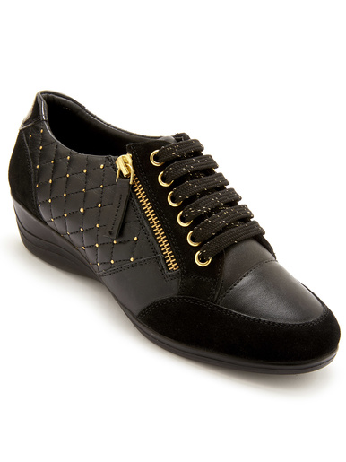 Derbies zippés et lacés détails dorés - Pédiconfort - Noir