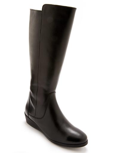 Bottes fourrées zippées et élastiquées - Pédiconfort - Noir