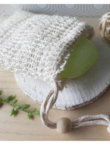 Gant de douche en sisal 100% naturel -  - Beige