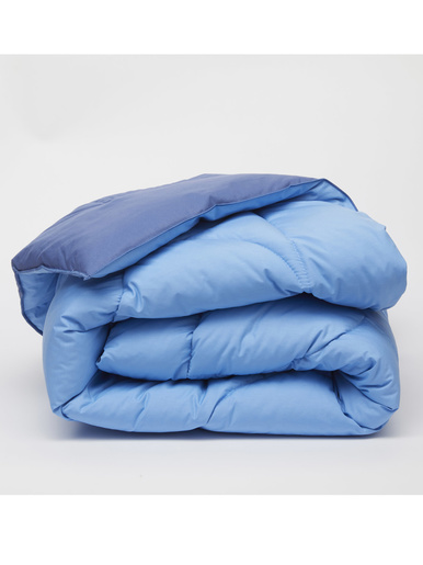 Edredon réversible - Carré d'azur - Bleu