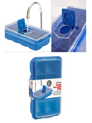 Bac à glacons géant avec couvercle -  - Bleu
