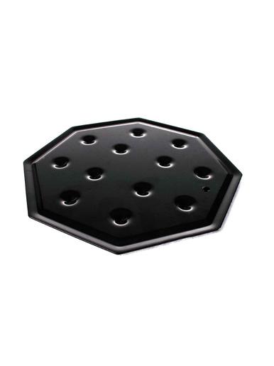 Diffuseur de chaleur octogonal émaillé -  - Noir