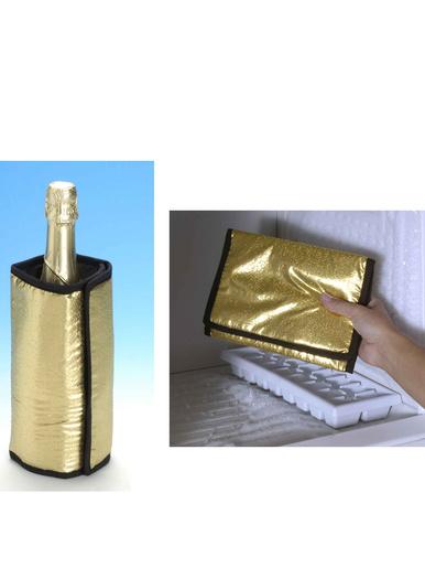 Rafraichisseur de bouteille doré -  -