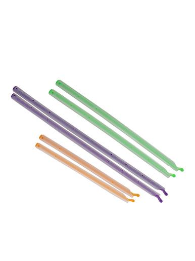 Lot de 6 sticks ferme sachets -  - Vert/ mauve/ orange/ rouge/ jaune/ bleu