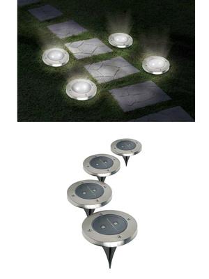 4 lampes led solaires de jardin