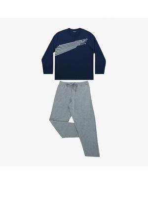 Pyjama long col rond homme Attrape-moi