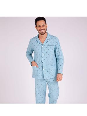 Pyjama long ouvert homme Attrape-moi