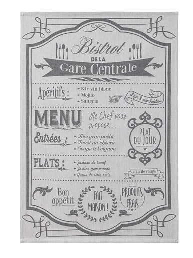 Torchon menu de bistrot