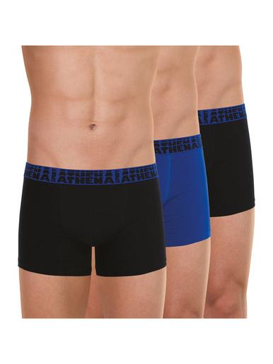 Lot de 3 boxers homme Easy Sport - Athéna - 1 bleu + 2 noirs