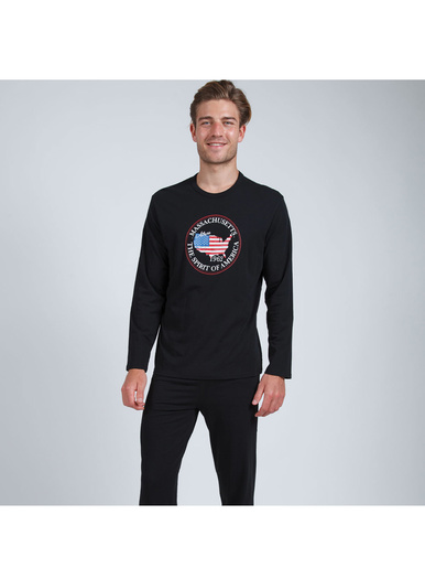 Pyjama long col rond homme Eco Pack
