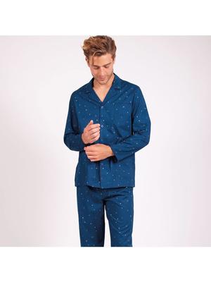 Pyjama long ouvert homme Globe-Trotteur