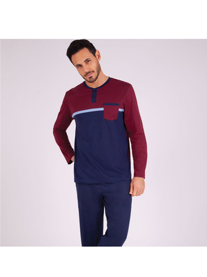 Pyjama long col T homme Héritage