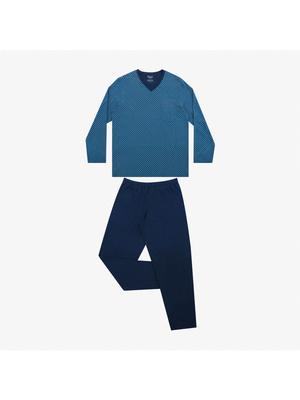 Pyjama long col V homme Héritage