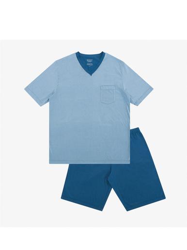 Pyjama court col V homme Héritage