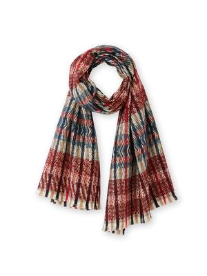 Grande écharpe avec laine et mohair