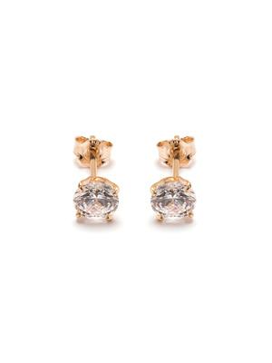 Boucles d'oreilles zirconium plaqué or