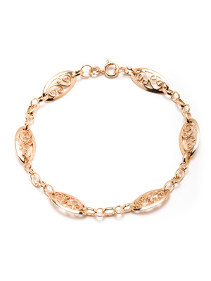 Bracelet maille filigranée plaqué or